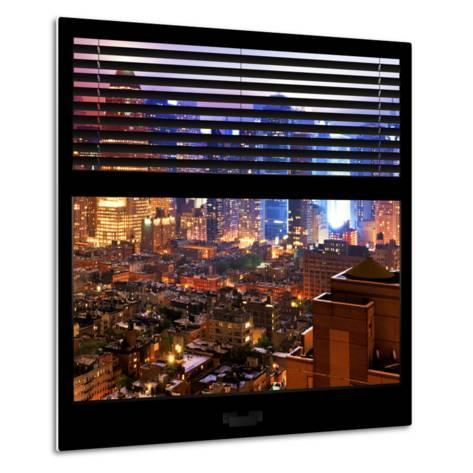 View from the Window - Hell's Kitchen Night - Manhattan-Philippe Hugonnard-Metal Print