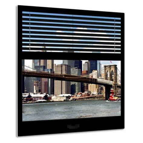 View from the Window - NYC Skyline and Brooklyn Bridge-Philippe Hugonnard-Metal Print
