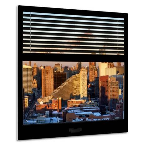 View from the Window - Midtown Manhattan at Sunset-Philippe Hugonnard-Metal Print