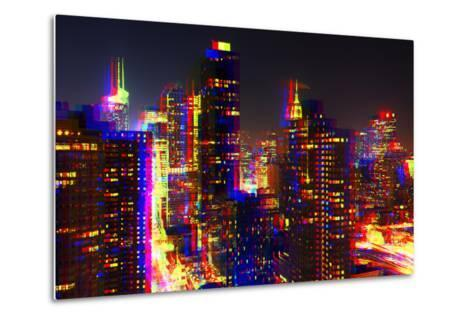 After Twitch NYC - Towers Night-Philippe Hugonnard-Metal Print