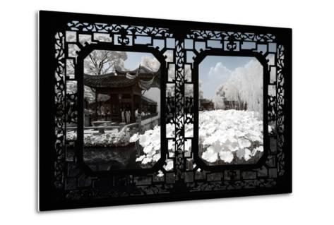 China 10MKm2 Collection - Asian Window - Another Look Series - White Lotus-Philippe Hugonnard-Metal Print