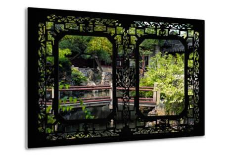 China 10MKm2 Collection - Asian Window - Chinese Garden-Philippe Hugonnard-Metal Print
