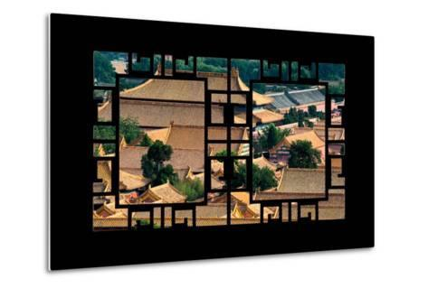 China 10MKm2 Collection - Asian Window - Roofs of Forbidden City - Beijing-Philippe Hugonnard-Metal Print