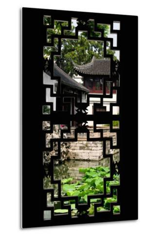 China 10MKm2 Collection - Asian Window - Chinese Temple-Philippe Hugonnard-Metal Print