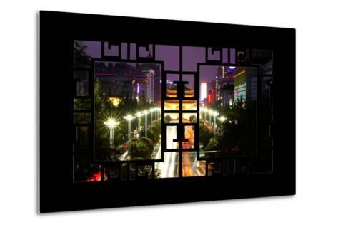 China 10MKm2 Collection - Asian Window - City Night Xi'an-Philippe Hugonnard-Metal Print