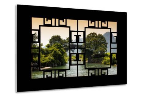 China 10MKm2 Collection - Asian Window - Guilin Yangshuo Bridge-Philippe Hugonnard-Metal Print