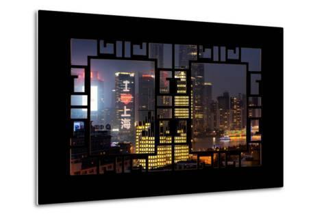 China 10MKm2 Collection - Asian Window - I Love Shanghai-Philippe Hugonnard-Metal Print