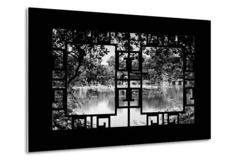 China 10MKm2 Collection - Asian Window - Temple Reflections-Philippe Hugonnard-Metal Print