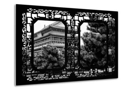 China 10MKm2 Collection - Asian Window - Temple Xi'an-Philippe Hugonnard-Metal Print