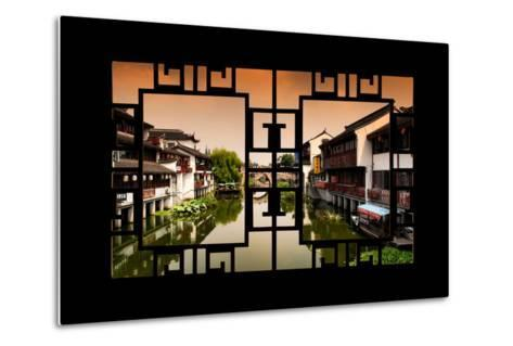 China 10MKm2 Collection - Asian Window - Chinese Water Town-Philippe Hugonnard-Metal Print