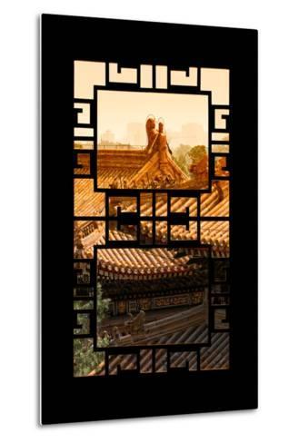 China 10MKm2 Collection - Asian Window - Sunset Summer Palace Architecture-Philippe Hugonnard-Metal Print