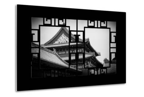 China 10MKm2 Collection - Asian Window - Forbidden City-Philippe Hugonnard-Metal Print
