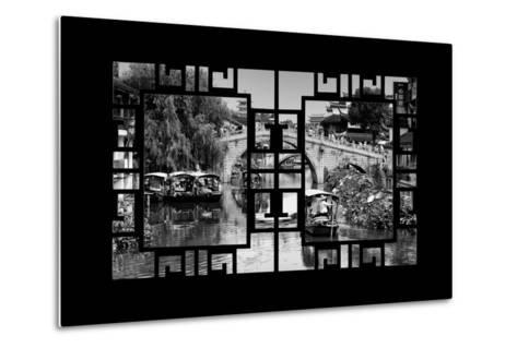 China 10MKm2 Collection - Asian Window - Shanghai Water Town - Qibao-Philippe Hugonnard-Metal Print