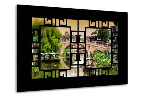 China 10MKm2 Collection - Asian Window - Shanghai Water Town - Qibao-Philippe Hugonnard-Metal Print