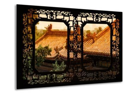 China 10MKm2 Collection - Asian Window - Roofs of Summer Palace at Sunset-Philippe Hugonnard-Metal Print
