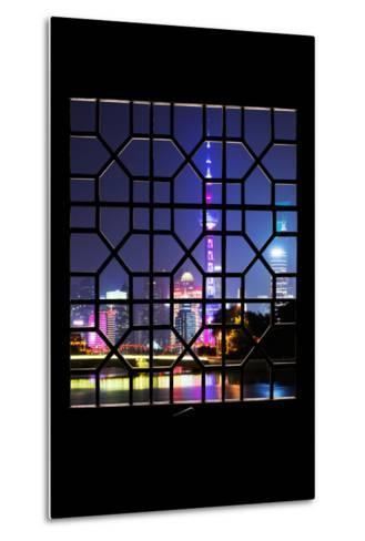 China 10MKm2 Collection - Asian Window - Shanghai Cityscape at night-Philippe Hugonnard-Metal Print