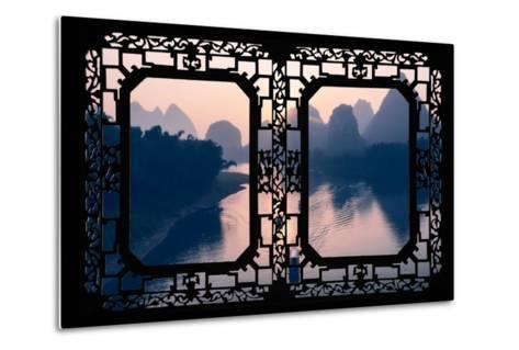 China 10MKm2 Collection - Asian Window - Great View of Yangshuo with Karst Mountains at Sunrise-Philippe Hugonnard-Metal Print