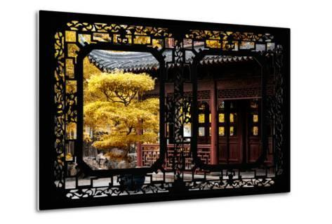 China 10MKm2 Collection - Asian Window - Classical Chinese Pavilion Fall Colors-Philippe Hugonnard-Metal Print