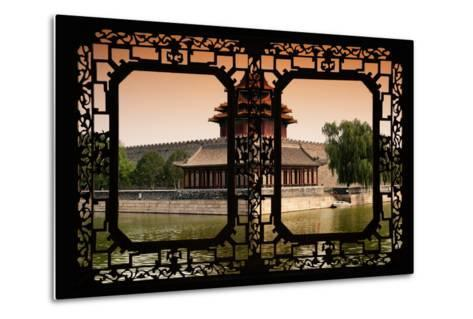 China 10MKm2 Collection - Asian Window - Watchtower - Forbidden City-Philippe Hugonnard-Metal Print