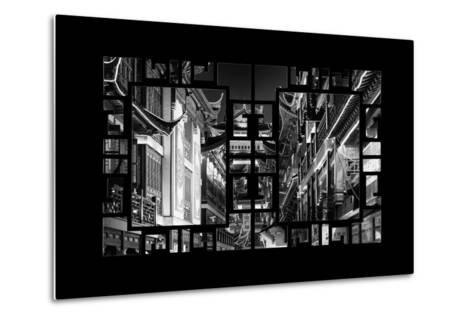 China 10MKm2 Collection - Asian Window - Traditional Architecture in Yuyuan Garden - Shanghai-Philippe Hugonnard-Metal Print