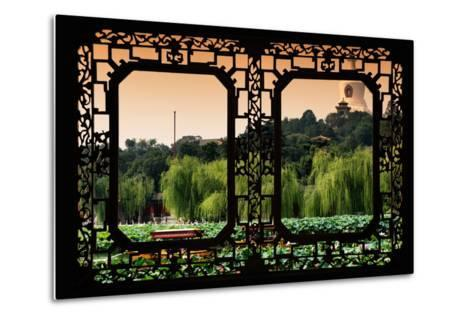 China 10MKm2 Collection - Asian Window - Lotus Flowers - Beihai Park-Philippe Hugonnard-Metal Print