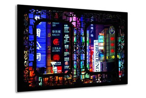 China 10MKm2 Collection - Asian Window - Neon Signs in Nanjing Lu - Shanghai-Philippe Hugonnard-Metal Print
