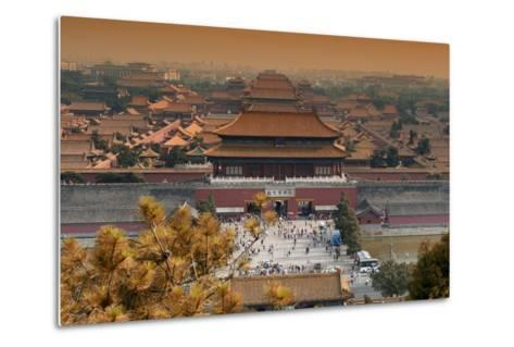 China 10MKm2 Collection - Forbidden City in autumn - Beijing-Philippe Hugonnard-Metal Print