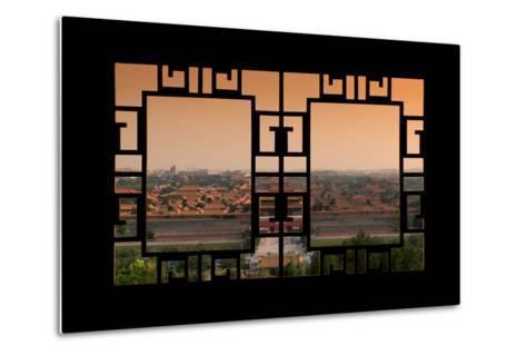 China 10MKm2 Collection - Asian Window - Forbidden City at Sunset - Beijing-Philippe Hugonnard-Metal Print