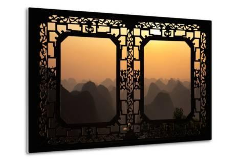 China 10MKm2 Collection - Asian Window - Karst Mountains at Sunset - Yangshuo-Philippe Hugonnard-Metal Print