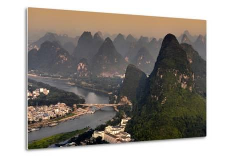 China 10MKm2 Collection - Beautiful Scenery of Yangshuo at sunset-Philippe Hugonnard-Metal Print