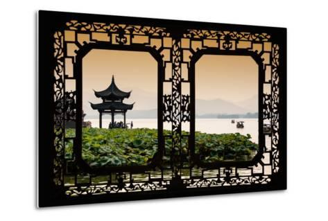 China 10MKm2 Collection - Asian Window - West Lake at sunset-Philippe Hugonnard-Metal Print