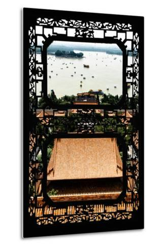 China 10MKm2 Collection - Asian Window - Summer Palace Beijing-Philippe Hugonnard-Metal Print