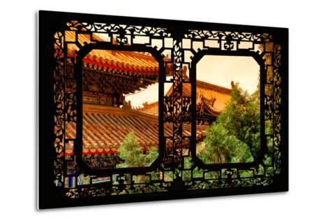 China 10MKm2 Collection - Asian Window - Summer Palace Architecture at Sunset-Philippe Hugonnard-Metal Print