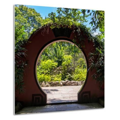 China 10MKm2 Collection - Chinese Arch Garden-Philippe Hugonnard-Metal Print