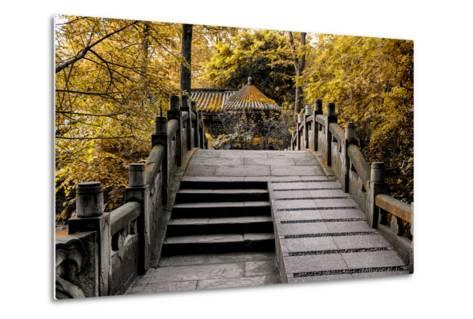 China 10MKm2 Collection - Chinese Bridge in Autumn-Philippe Hugonnard-Metal Print