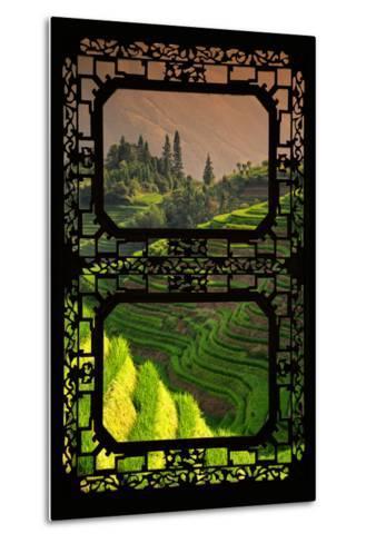 China 10MKm2 Collection - Asian Window - Rice Terraces - Longsheng Ping'an - Guangxi-Philippe Hugonnard-Metal Print