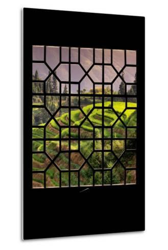 China 10MKm2 Collection - Asian Window - Rice Terraces - Longsheng Ping'an - Guangxi-Philippe Hugonnard-Metal Print