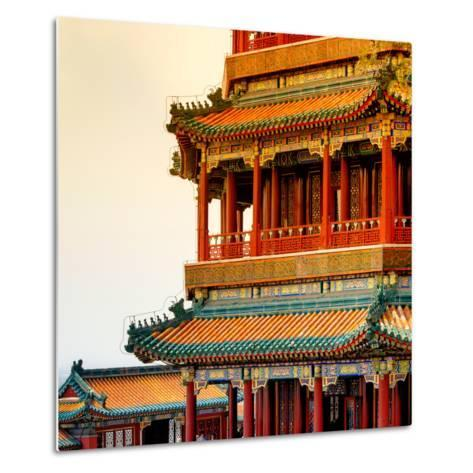 China 10MKm2 Collection - Detail of Summer Palace at sunset-Philippe Hugonnard-Metal Print