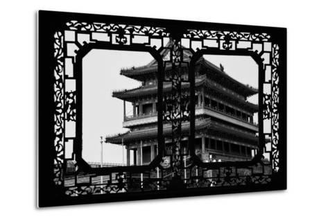 China 10MKm2 Collection - Asian Window - Qianmen Temple - Beijing-Philippe Hugonnard-Metal Print