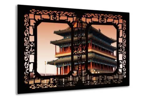 China 10MKm2 Collection - Asian Window - Qianmen Beijing-Philippe Hugonnard-Metal Print
