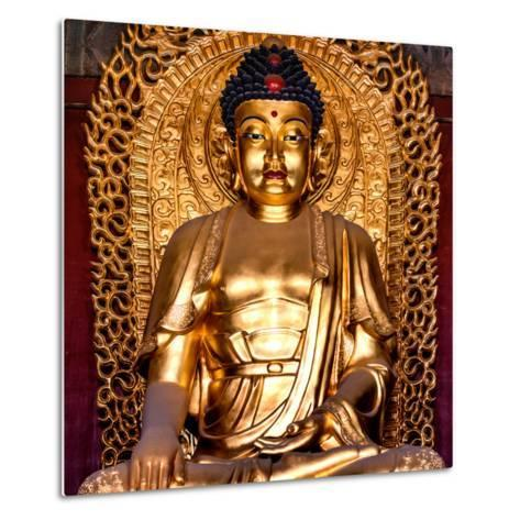 China 10MKm2 Collection - Gold Buddha-Philippe Hugonnard-Metal Print