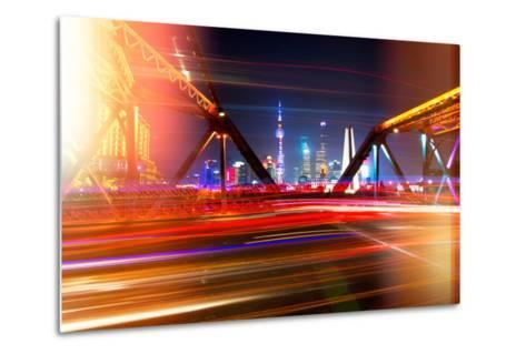 China 10MKm2 Collection - Instants Of Series - Colorful Garden Bridge - Shanghai-Philippe Hugonnard-Metal Print