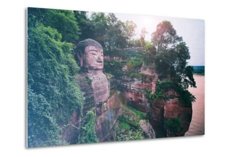 China 10MKm2 Collection - Instants Of Series - Giant Buddha of Leshan-Philippe Hugonnard-Metal Print