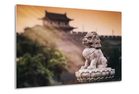 China 10MKm2 Collection - Instants Of Series - Guardian of the Temple-Philippe Hugonnard-Metal Print
