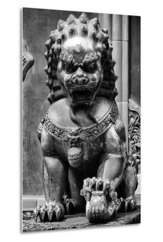 China 10MKm2 Collection - Lion Statue - Forbidden City-Philippe Hugonnard-Metal Print