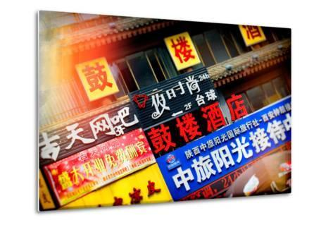 China 10MKm2 Collection - Instants Of Series - Street Signs-Philippe Hugonnard-Metal Print
