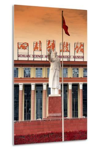 China 10MKm2 Collection - Statue of Mao Zedong in front of the museum-Philippe Hugonnard-Metal Print
