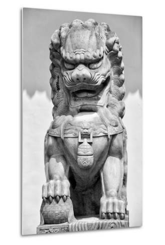 China 10MKm2 Collection - Stone Lion Statue-Philippe Hugonnard-Metal Print