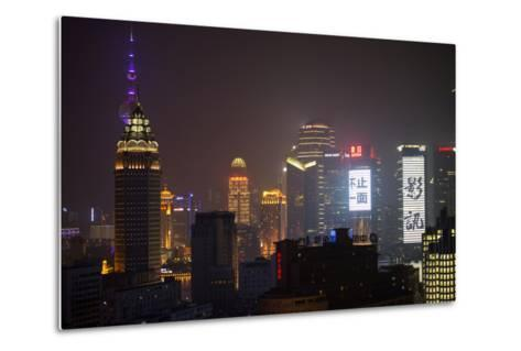 China 10MKm2 Collection - Shanghai Cityscape at night-Philippe Hugonnard-Metal Print