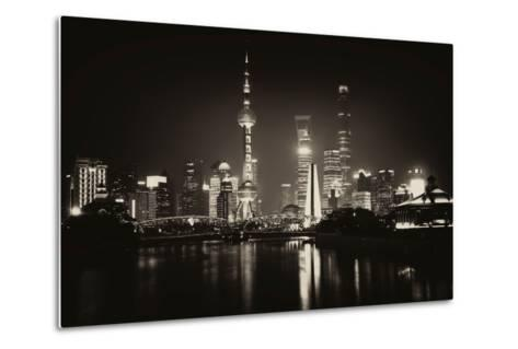China 10MKm2 Collection - Shanghai Skyline with Oriental Pearl Tower at night-Philippe Hugonnard-Metal Print
